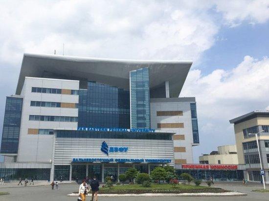 Пожар произошел в кампусе ДВФУ на острове Русский