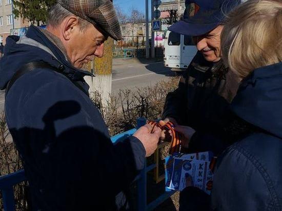 Георгиевские ленты начали раздавать жителям городов и поселков Костромской области