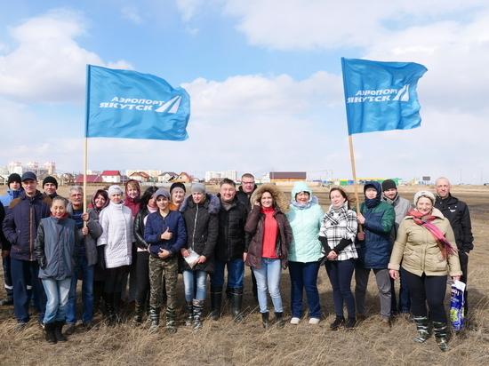 Аэропорт «Якутск» начал работы по благоустройству будущего сквера «Три сэргэ»