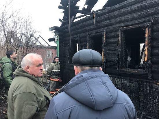 Пожар в Нейском районе: на месте уже работает глава региона Сергей Ситников