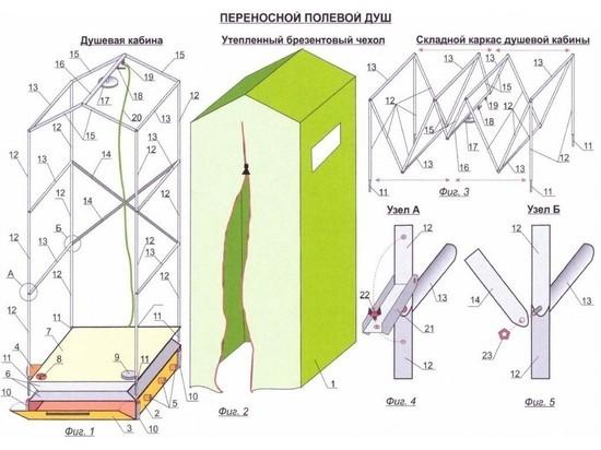 Российские изобретатели создали переносной душ, нагреваемый выхлопными газами автомобиля