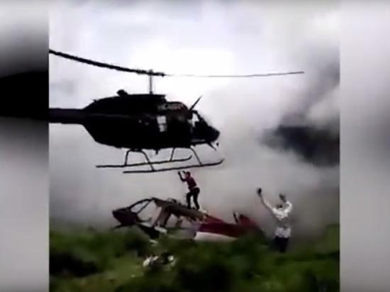 Гибель инженера под лопастями вертолета попала на видео