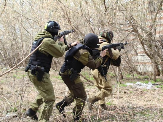 В Курской области подошел к концу полевой выход росгвардейцев