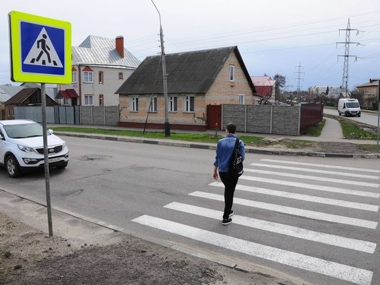В Тамбове появился новый пешеходный переход на улице Комиссара Московского