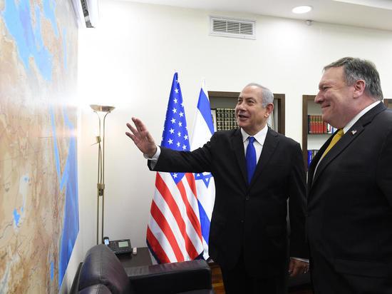 Состоялась встреча премьер-министра Биньямина Нетаниягу  с Госсекретарем США Майком Помпео