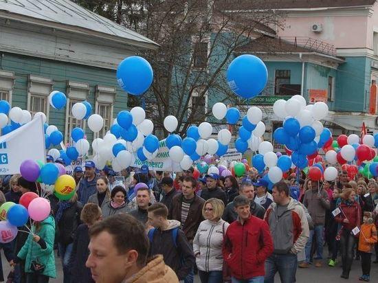 В первомайской колонне в Костроме прошли более 7,5 тысяч человек