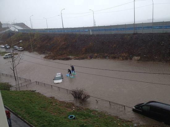 На улицах Владивостока замечены sup-доски
