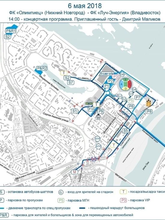 Опубликованы схемы движения транспорта в Нижнем Новгороде 6 мая