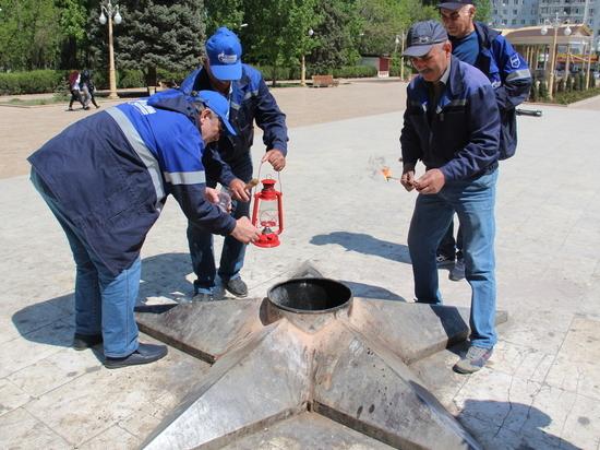 Специалисты «Газпром газораспределение Махачкала» провели техобслуживание газового оборудования на мемориалах «Вечный огонь»