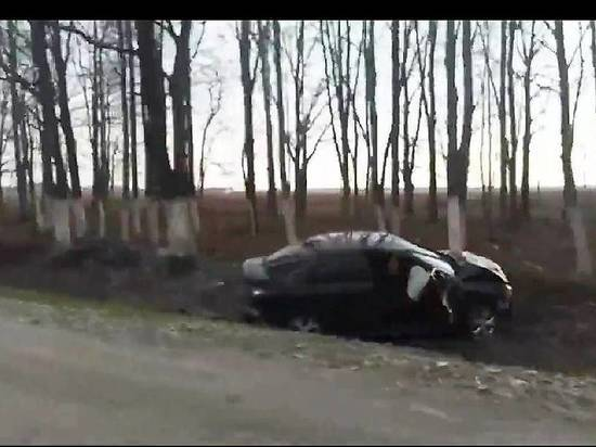 В Мордовии легковушка вылетела с трассы в кювет, пострадали два человека