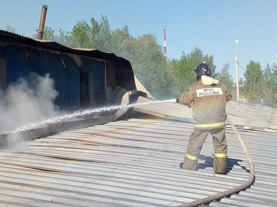 В Смоленске горело здание колбасного цеха