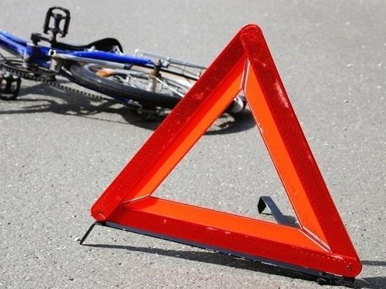В Казани на зебре иномарка сбила юного велосипедиста