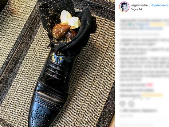 Израильтяне оскорбили японского премьера Абэ блюдом в ботинке