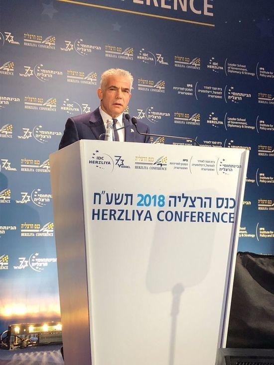 Лапид на Герцлийской конференции: нужно убедить Европу выйти из соглашения с Ираном