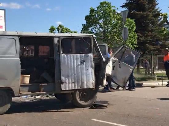 Сразу три автомобиля столкнулись в центре Тамбова и спровоцировали заторы