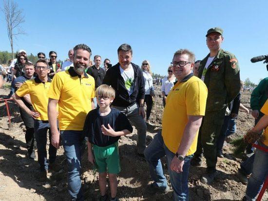 Губернатор Московской области Андрей Воробьёв дал старт акции «Лес Победы»