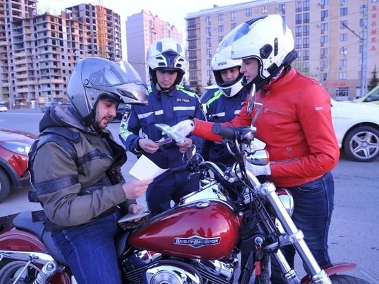 В Казани прошел совместный рейд байкеров и инспекторов ДПС