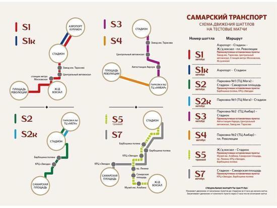 В Самаре в связи с третьим тестовым матчем на «Самара Арене» изменится схема движение транспорта