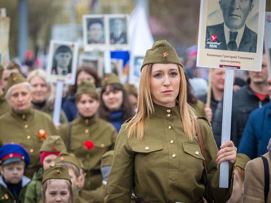 В Алтайском крае «Бессмертным полком» прошли 160 тысяч человек
