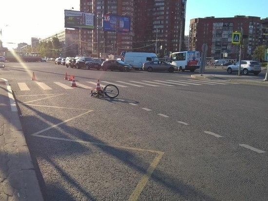 Маршрутка сбила мальчика на велосипеде на проспекте Луначарского