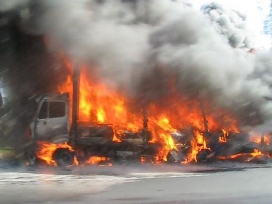В Мордовии на сельхозпредприятии сгорел грузовик