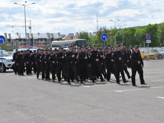 В Тамбове прошел строевой гарнизонный смотр личного состава полиции