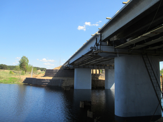 В Тверской области продолжают строительство моста к «Завидово»