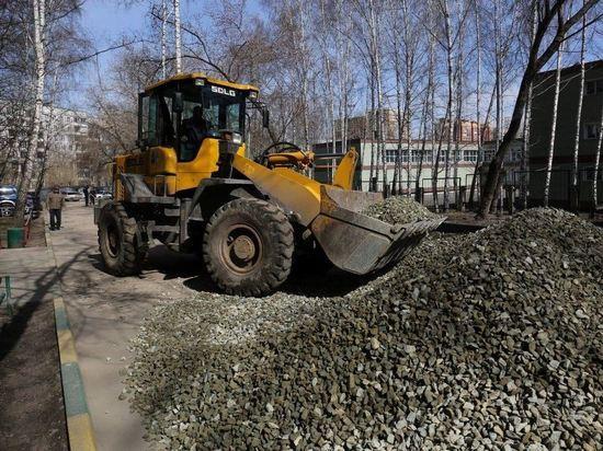 В Новосибирске начали обустраивать дворовые территории