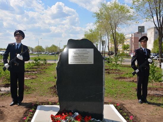 В оренбургской школе №11 заложен памятный камень в честь погибшего сотрудника полиции Евгения Никулина