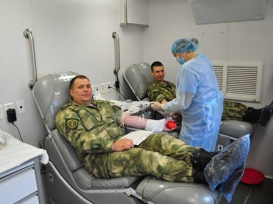 17 литров крови за один день сдала Росгвардия Костромской области