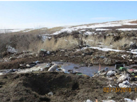 В Матвеевском районе администрация сельсовета организовала свалку на землях сельхозназначения
