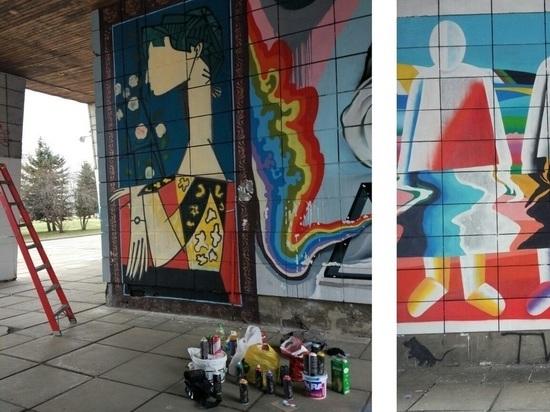 На стенах Архангельского музея ИЗО обновили граффити-галерею