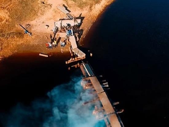 Северодвинский подросток оказался в огненной ловушке на горящем мосту