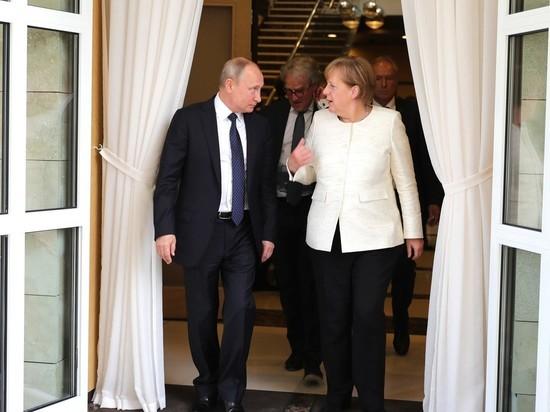 На встрече с Путиным Меркель заговорила по-русски: