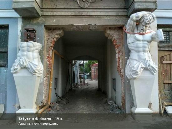 На фасад дома Шихобаловых в Самаре вернулись атланты