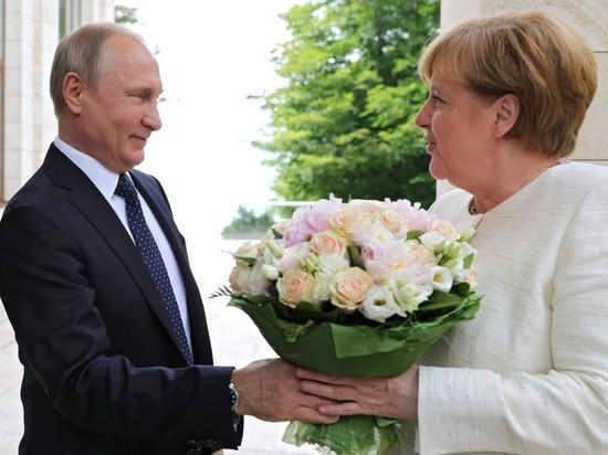 Оскорбленная Меркель,