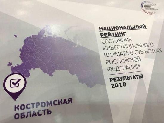 Итоги нацонального инвестрейтинга: Костромской области есть над чем работать