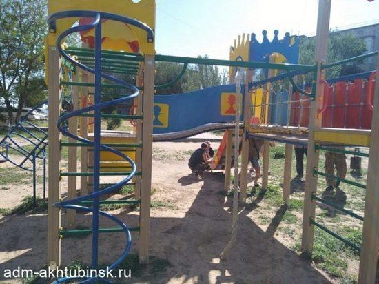 В Ахтубинске детей лишили игровой площадки
