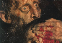 Вечером в пятницу, перед самым закрытием основной экспозиции Третьяковки что в Лаврушинском, вандал начал металлической стойкой ограждения бить по известной картине «Иван Грозный и сын его Иван»