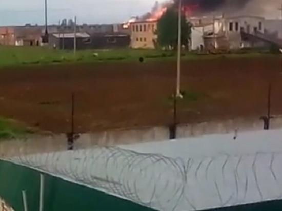 Причиной вчерашнего пожара в ИК-8 в Альметьевске было неосторожное обращение с огнем неустановленного лица