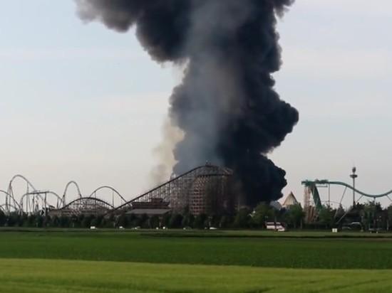 В парке аттракционов в Германии произошел пожар