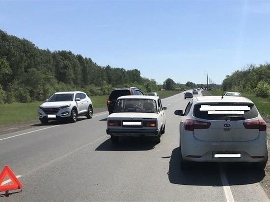 В Самарской области столкнулись пять авто