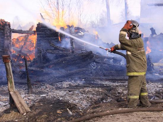 Няндомские детишки спалили баню и свой собственный дом