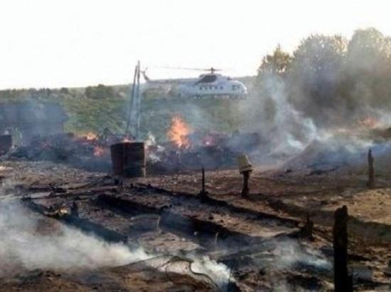 «Дачный» пожар уничтожил гектар леса под Холмогорами