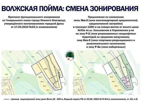 Публичные слушания о зонировании волжской поймы прошли в Сормове