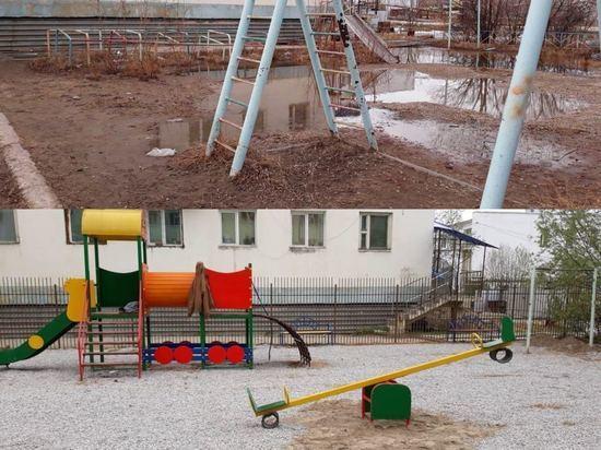 В Якутских дворах установлены детские площадки от авиатора
