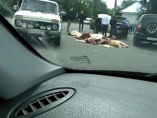 В Самаре на дорогу вывалили мясные туши