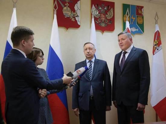 Полномочный представитель Президента в СЗФО Александр Беглов посетил Вологодскую область