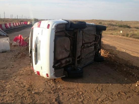 Под Астраханью в аварии погиб пожилой мужчина