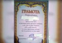 В соцсетях появилась информация о том, что ученики одной из школ Приморского края получили грамоты с украинским трезубцем
